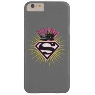 Logotipo de Supergirl con la corona Funda De iPhone 6 Plus Barely There