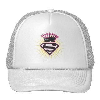 Logotipo de Supergirl con la corona Gorros Bordados