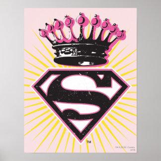 Logotipo de Supergirl con la corona Póster