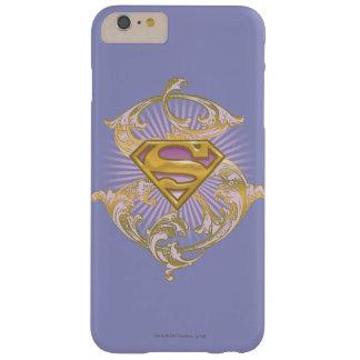 Logotipo de Supergirl Starbust Funda De iPhone 6 Plus Barely There