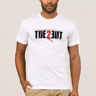 Logotipo de TOE2TOE en la camiseta BLANCA