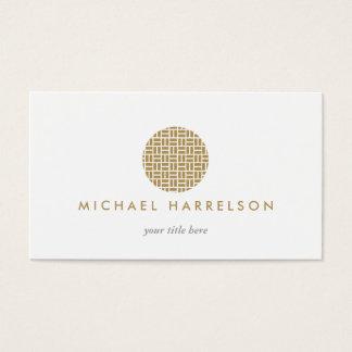 Logotipo decorativo moderno en oro tarjeta de negocios