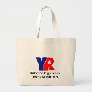 Logotipo del año, republicanos de los jóvenes de l bolsa tela grande