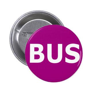 Logotipo del AUTOBÚS - violeta Chapa Redonda De 5 Cm