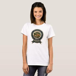 Logotipo del bajo del pavo real camiseta