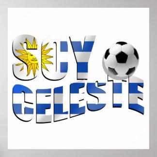 Logotipo del balón de fútbol de Futbol de la bande Póster