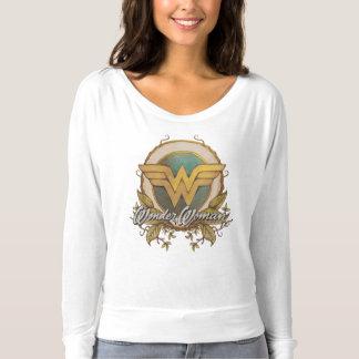 Logotipo del bosquejo del follaje de la Mujer Camiseta
