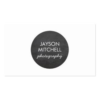 Logotipo del círculo de la pizarra para los fotógr plantilla de tarjeta de negocio