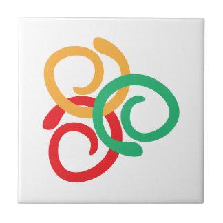 Logotipo del color azulejo cuadrado pequeño
