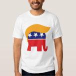 Logotipo del elefante del GOP del pelo de Donald Camisetas
