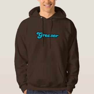 Logotipo del engrasador jersey con capucha