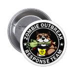 Logotipo del equipo de la respuesta del brote del chapa redonda de 5 cm
