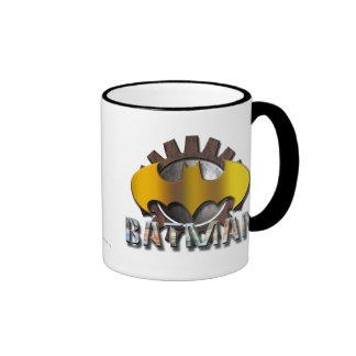 Logotipo del fondo del engranaje de Batman el | Taza De Dos Colores