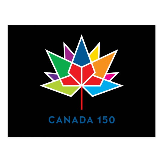 Logotipo del funcionario de Canadá 150 - Postal