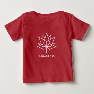 Logotipo del funcionario de Canadá 150 - rojo y Camiseta De Bebé