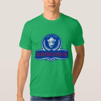 logotipo del funcionario de la casa del búfalo camisetas