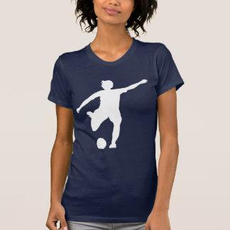 Logotipo del fútbol de las mujeres (blanco en camiseta