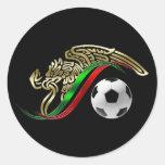 Logotipo del futbol del fútbol del emblema de la etiqueta redonda