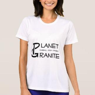 Logotipo del granito del planeta camiseta