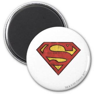 Logotipo del Grunge del superhombre Imán Redondo 5 Cm