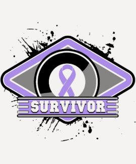 Logotipo del Grunge del superviviente del cáncer Camiseta