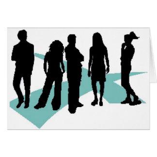 logotipo del icono del lifegroup de los cruces felicitacion