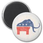 Logotipo del mamut del GOP Imanes Para Frigoríficos