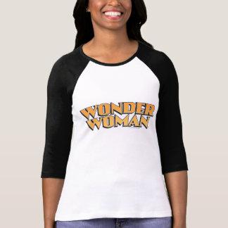 Logotipo del naranja de la Mujer Maravilla Camiseta