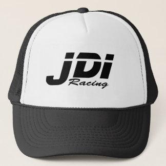 Logotipo del negro del sombrero del camionero de