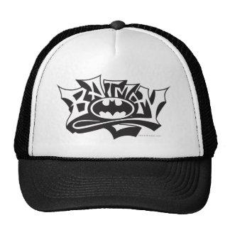 Logotipo del nombre de la pintada de Batman el | Gorros Bordados