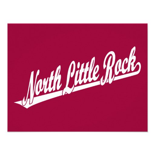 Logotipo del norte de la escritura de Little Rock  Comunicado Personalizado