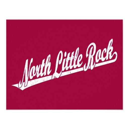 Logotipo del norte de la escritura de Little Rock  Invitación Personalizada