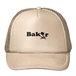 Logotipo del panadero gorra