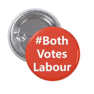 Logotipo del partido laborista del chapa redonda de 2,5 cm