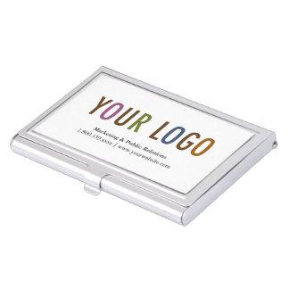 Logotipo del personalizado de la caja del metal cajas de tarjetas de visita