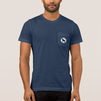Logotipo del rescate de Malinois, camiseta oscura