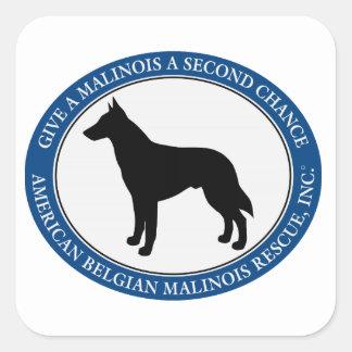 Logotipo del rescate de Malinois, pegatina