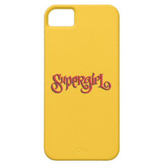 Logotipo del rojo de Supergirl Funda Para iPhone SE/5/5s