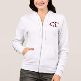 Logotipo del suéter con capucha w/C3 de la