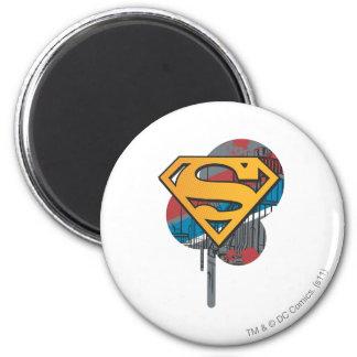 Logotipo del superhombre con la pintura imanes de nevera
