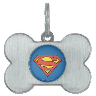 Logotipo del superhombre del S-Escudo el | del Placas De Nombre De Mascota