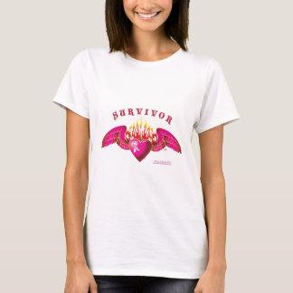 Logotipo del superviviente del cáncer de pecho camiseta