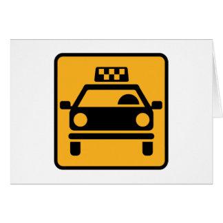 Logotipo del taxi tarjeta de felicitación