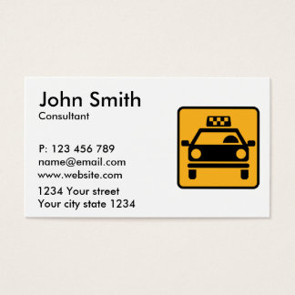 Logotipo del taxi tarjeta de negocios