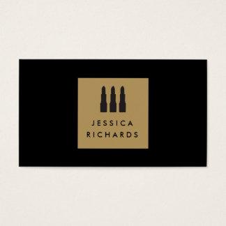 Logotipo del trío del lápiz labial para el artista tarjeta de negocios