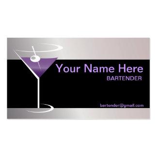 Logotipo del vidrio de Martini de la tarjeta de vi