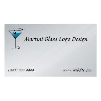 Logotipo del vidrio de Martini de la tarjeta de vi Tarjetas De Visita