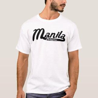 Logotipo del vintage de Manila Filipinas Camiseta