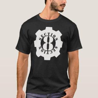 Logotipo delantero de la sección 8 por completo camiseta
