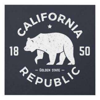Logotipo el | de California el Golden State Cuadro